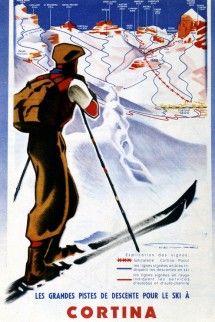 vintage ski poster - Cortina