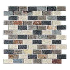 Found it at Wayfair - Cheyenne 1'' x 2'' Natural Stone and Glass Mosaic Tile in Multi-colored