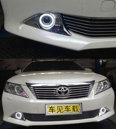 108.90$  Watch now - http://alin7c.worldwells.pw/go.php?t=32616588321 - DRL daytime running light COB angel eye (6 colors)+ projector lens + fog lamp with bumper cover for toyota camry 2012-14, 2pcs 108.90$