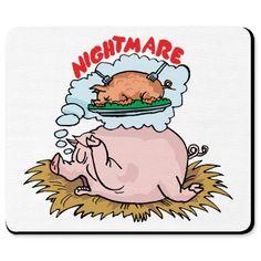 Pig Nightmare Mousepad - Pig Nightmare - JohnnyBismark - Printfection.com