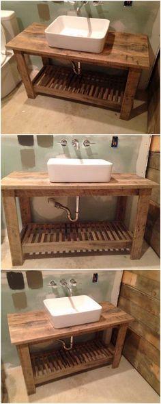 Wood Pallet Bathroom Sink