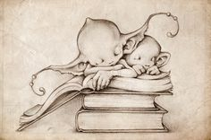 Picsees sleeping on books  made by thePicsees found on deviantart
