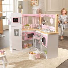 Kidkraft Deluxe Cookware Set Toy Kitchen Sets for sale online Kidkraft Kitchen, Kitchen Playsets, Kids Play Kitchen, Play Kitchen Sets, Play Kitchens, Kitchen Corner, Kitchen Set For Girls, Kitchen Dishes, Child Room