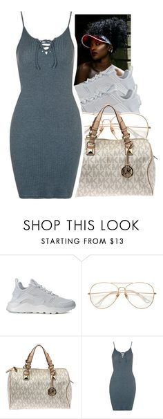 """""lucky for you that's what I like"" ✨"" by glowithbria ❤ liked on Polyvore featuring NIKE, Michael Kors and Topshop"