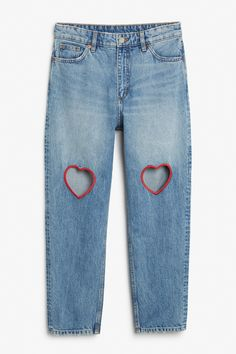 Monki Image 1 of Taiki cut out hearts in Blue