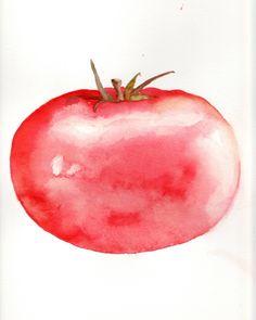 Tomato. Mastering Watercolours