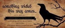 Something Wicked Black Raven  Halloween Invitation
