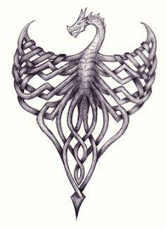 Celtic Knot Dragon by LassofBadassery
