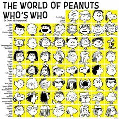 Peanut's chart of Who's Who