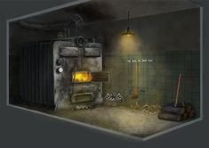 Project Discord - Indie Video Game ~ Boiler Room Boiler, Discord, Video Game, Concept Art, Indie, Home Appliances, Wood, Projects, Design
