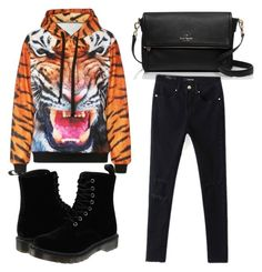 """""""Beautifulhalo #14"""" by evalentina92 ❤ liked on Polyvore featuring moda, Kate Spade, Dr. Martens e bhalo"""