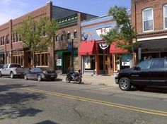 Downtown Lake Orion ~ with Mugsy Some very cool shops!
