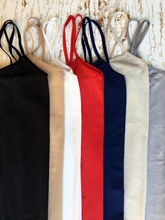 Incredible Seamless Slip/Long Layering Tank (Seven Color Options) - Be Inspired Boutique