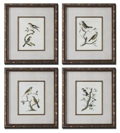 4 Framed Prints by Gordon Companies, Inc. $630.00. Brand Name: Gordon Companies, Inc Mfg#: 30721480. Picture may wrongfully represent. Please read title and description thoroughly.. Shipping Weight: 48.00 lbs. Please refer to SKU# ATR26168881 when you inquire.. This product may be prohibited inbound shipment to your destination.. 4 Framed Prints/Netherlands birds prints under glass over linen mats/bronze toned frames with complex wash/25''H x 22''W x 2''D/made of wood and glas...