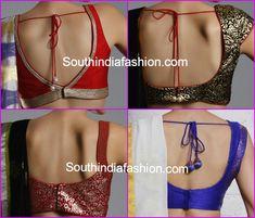 blouse back neck patterns 2015