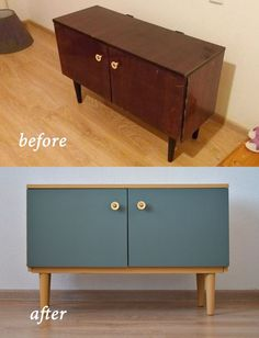 Diy Old Furniture Makeover, Diy Furniture Projects, Refurbished Furniture, Paint Furniture, Repurposed Furniture, Home Furniture, Timber Furniture, Repainting Furniture, Furniture Dolly