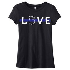 Hey, I found this really awesome Etsy listing at https://www.etsy.com/listing/194027102/police-wife-shirt-thin-blue-line-love