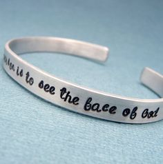 Les Miserables Inspired - To Love Another Person Is To See The Face Of God - A Hand Stamped Aluminum Bracelet on Etsy, $14.95