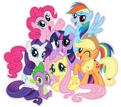 My Little Pony Friendship is Magic Group Shot por KewlWallStickers