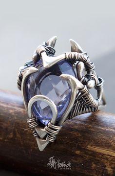 Elvish ring // Sterling Silver elvish ring // Elvish jewellery // Dark elf ring // Dark elf jewelry // Elf jewellery // Elf ring