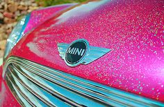 pink . sparkles . MINI COOPER <3 #my #life #complete