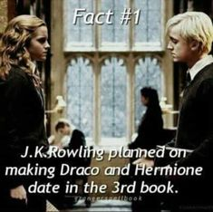 This would've added an amazing dynamic between Harry and Ron and hermoine like imagine the shock of Harry and Ron when hermoine said she was dating Draco it would been great let's release this book and add this in 😂 Harry Potter Ships, Harry Potter Facts, Harry Potter Quotes, Harry Potter Love, Harry Potter Universal, Harry Potter Fandom, Harry Potter World, Dramione, Slytherin