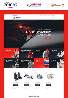 Are you in need of a ready-made Magento 2 design to sell car parts and equipment? Meet Magetique Spare Parts, a beautiful template built just for that purpose. Landing Page Inspiration, Website Design Inspiration, Car Spare Parts, Car Parts, Magento Design, Car App, Seo Basics, Car Themes, Social Media Design