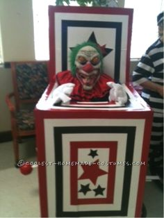 Senior Jack in the Box Wheelchair Costume... This website is the Pinterest of costumes