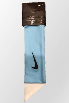 Light Blue and White Custom Nike Dri-Fit Head Tie Headband