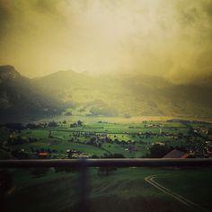 Road-trip through the foggy swiss countryside...