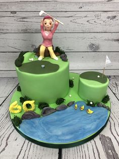 Golf female cake - March 2020 Cake Business, Cake Makers, Novelty Cakes, Homemade Cakes, March, Golf, Birthday Cake, Female, Desserts