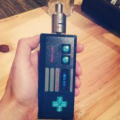 Nintendo NES controller DNA 30 custom mod.  @jericon this is an incredible collectible!  You're a lucky guy.  #vape #vapefam #dna30 #ecig #mod #vapepics #calivapers #bayvapes #bayareavape #bayareavapers #custommod #vapeporn #vapeon #vapeshop #Padgram