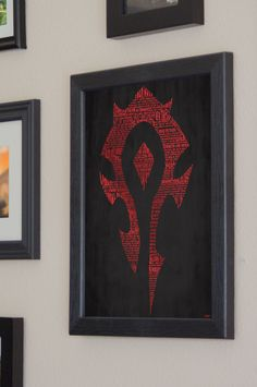 World of Warcraft Horde Art Print  - Framed. $40.00, via Etsy.