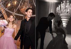 Kaley Cuoco Had An Upside Down Chandelier Wedding Cake!