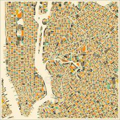 Jazzberry Blue - New York Karte