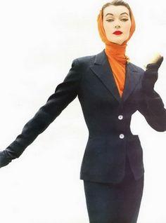Model: Dovima, ca. mid-1950's.