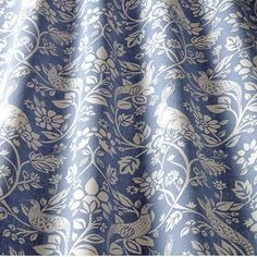 Whether you're looking for Royal, Baby, Sky, Indigo, Denim or Turquoise… we've got a huge selection of blue curtain & upholstery fabrics at up to off RRP. Cotton Curtains, Blue Curtains, Velvet Curtains, Drapery Fabric, Purple Color Palettes, English Decor, Modern Curtains, Fabric Wallpaper, Blue Fabric