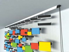 Curtain-style book storage.