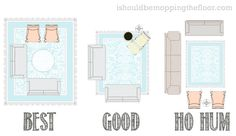 Easy Guide to Area Rug Placement with diagrams