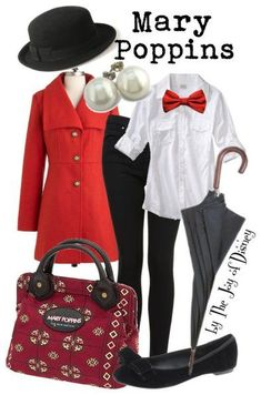 Disney Bound: Mary Poppins from Mary Poppins; by The Joy of Disney Mary Poppins Outfit, Mary Poppins Costume, Disney Bound Outfits Casual, Disney Themed Outfits, Disney Dresses, Disney Clothes, Moda Disney, Disney Mode, Disney Inspired Fashion