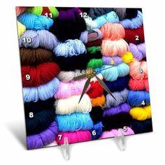 3dRose Wool and yarn textiles, Cuzco, Peru - SA17 BBA0053 - Bill Bachmann, Desk Clock, 6 by 6-inch