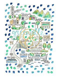 Greenville Map Print | Evelyn Henson