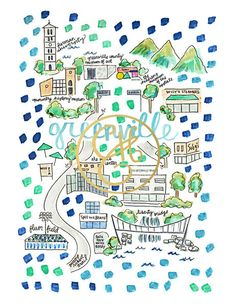 Greenville Map Print