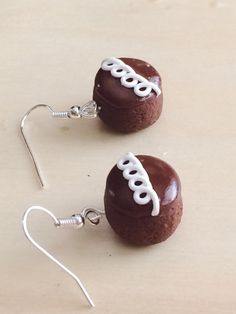 These make me think of my dad =) Swirl Cupcake Polymer Clay Earrings  by SweetCraftJewelrySA