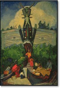 'Old Indian House' / Emily Carr / Vancouver Art Gallery / Tom Thomson, Canadian Painters, Canadian Artists, Emily Carr Paintings, Vancouver Art Gallery, Group Of Seven, Jackson, Post Impressionism, Impressionist Paintings