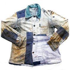 1920s ~ original #frenchworkwear #workwear #vintageworkwear #original #mycollection #linen #moleskin #patched #darned #faded #paysan #ootd #fashion #realvintage #vintagedublin #France #workjacket #biaude #veste #darned #darn #antiqueclothes #antiqueclothing #1920s #boro #rrl #kapital #rare #inspiration #smidirini