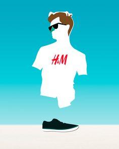 beach life with H #Art #fashion #h #hm #clothes #boots #hair #blue #colors