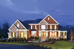 Elevation / Exterior Design is the design of the outside of this Hampton Carolina home.  How beautiful is this home in the evening!?