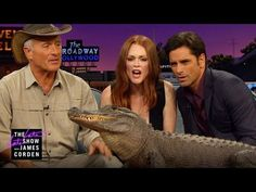 The Late Late Show with James Corden: Kangaroos, Hawks & an Alligator w/ Jack Hanna Animal Fun, Cute Animal Videos, Cute Animals, John Stamos, Lemurs, The Late Late Show, Fuller House, Julianne Moore, Kangaroos