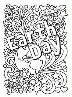 Earth Day coloring pages from Doodle